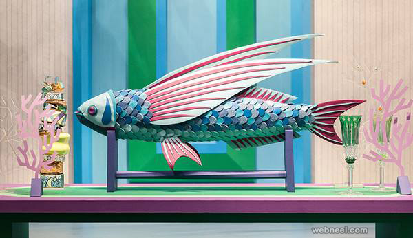 paper sculpture fish by zimzou