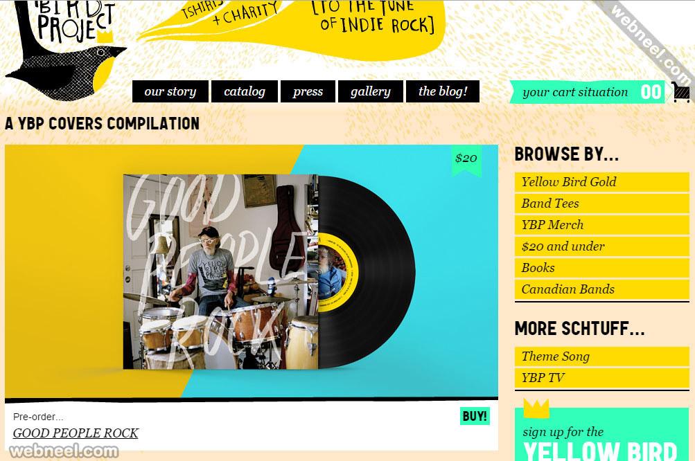 ecommerce website design yellowbirdproject