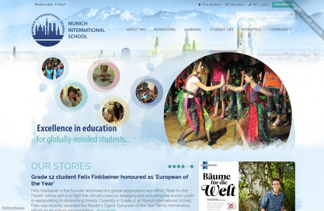 school website munich