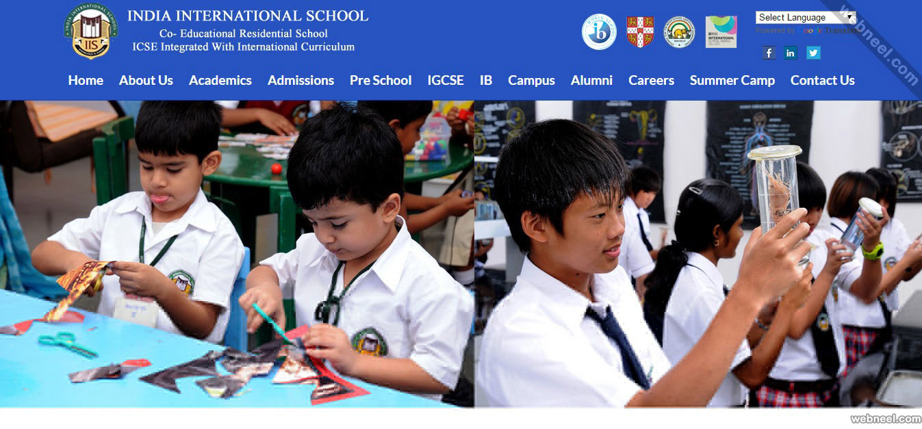 school website iis bangalore india