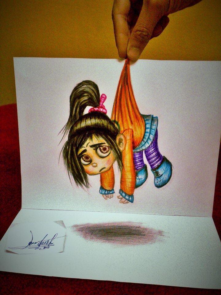 3d girl drawing by ana darsh