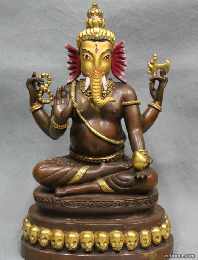 bronze sculptures lord ganesha