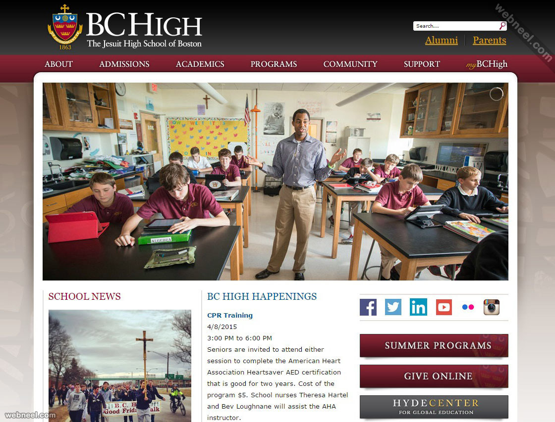 school website bchigh