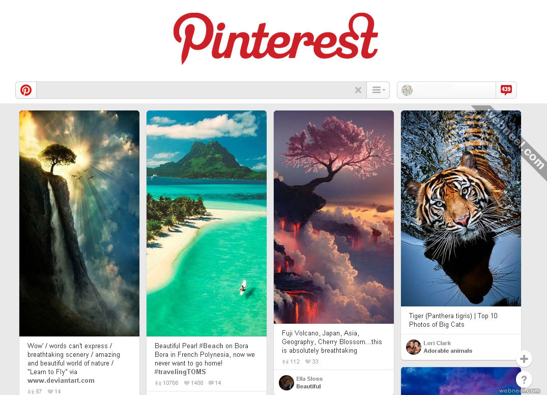 most popular website pinterest