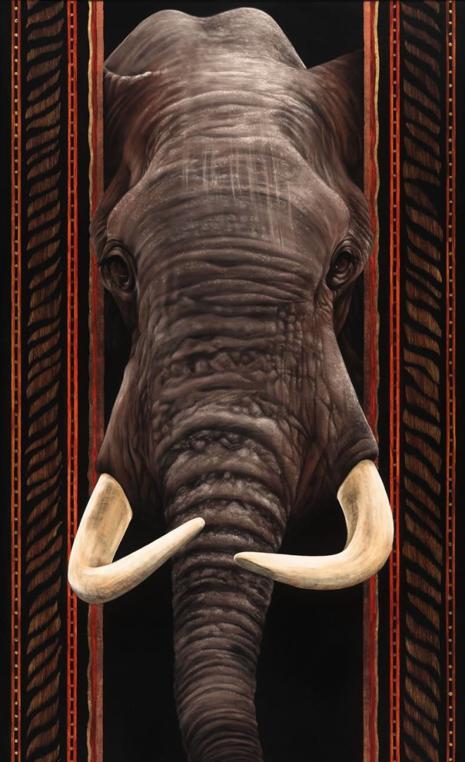 elephant painting by sallymaxwell