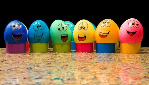 funny egg painting
