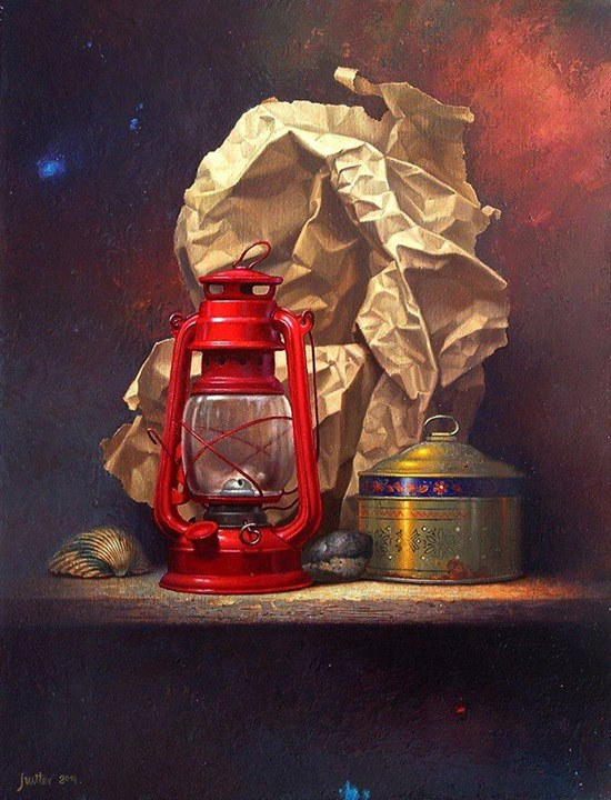 still life painting by edward szutter