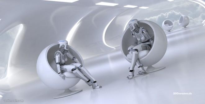 robots 3d model by robert kuczera