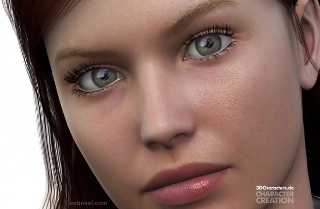 woman 3d model by robert kuczera