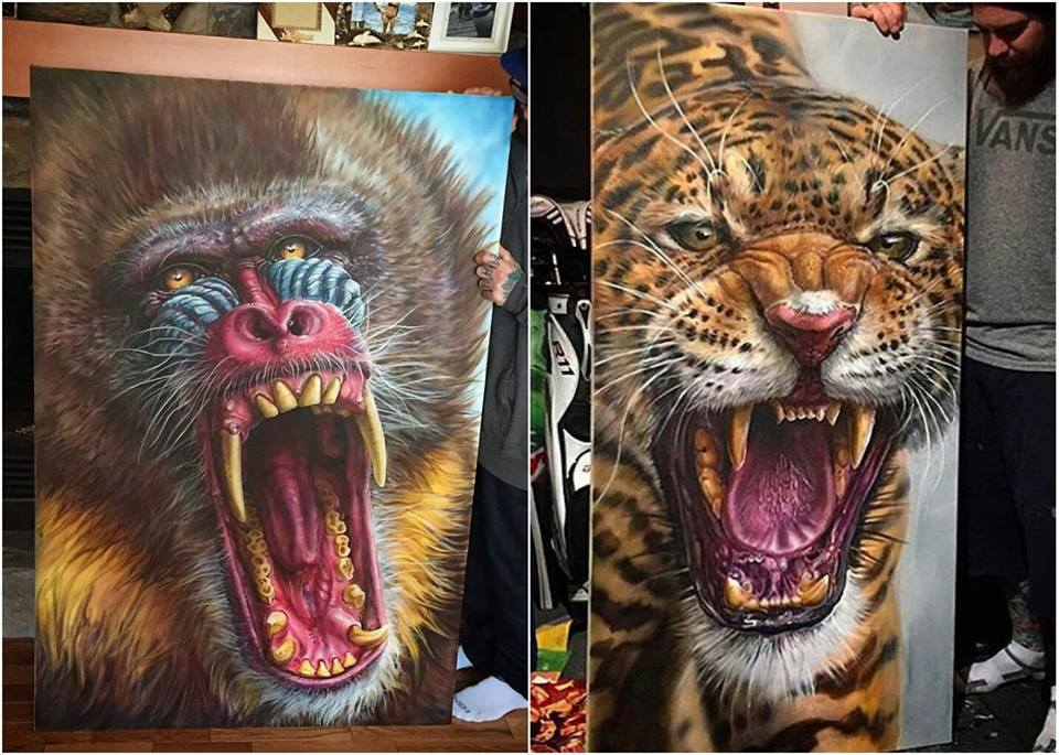 Realistic Animal Drawings byDerek Turcotte