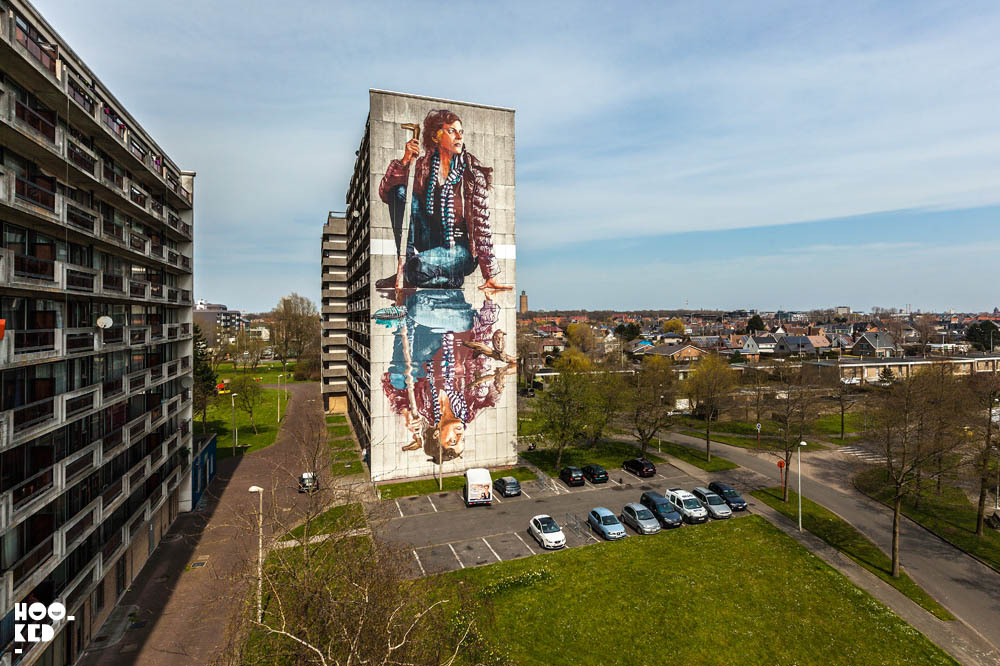 lady mural painting by fintan magee
