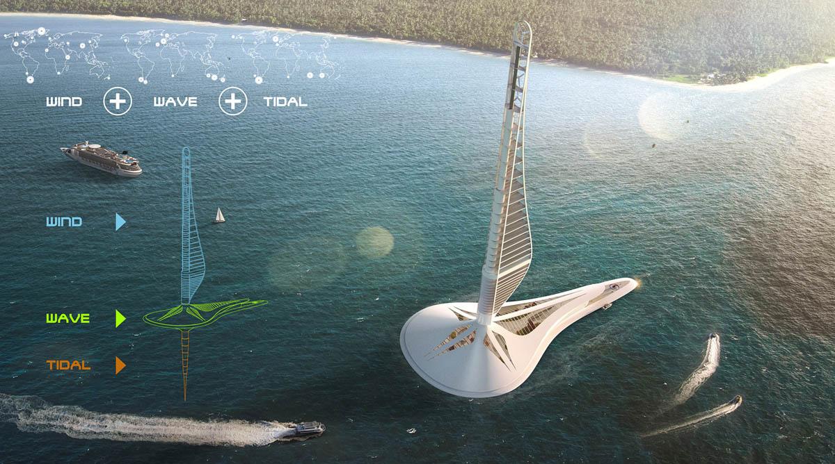 floating power station evolo skyscraper competition architecture design