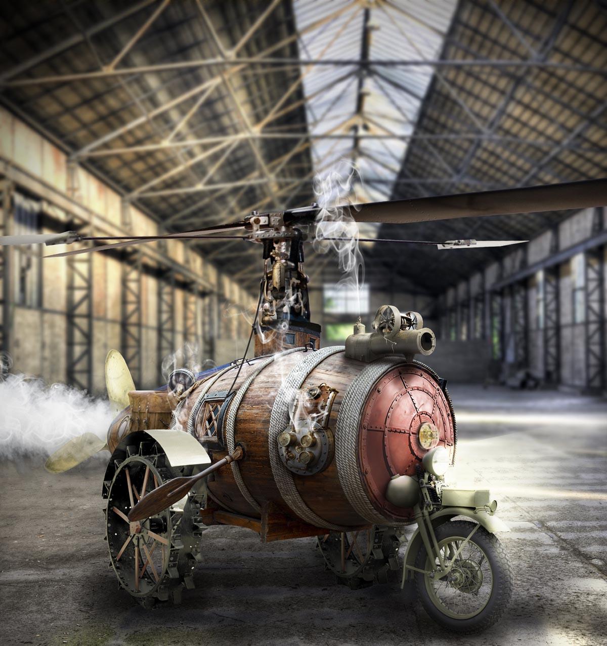 steampunk 3d design by foxeye