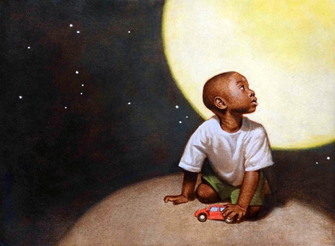 max and moon illustration by floyd cooper