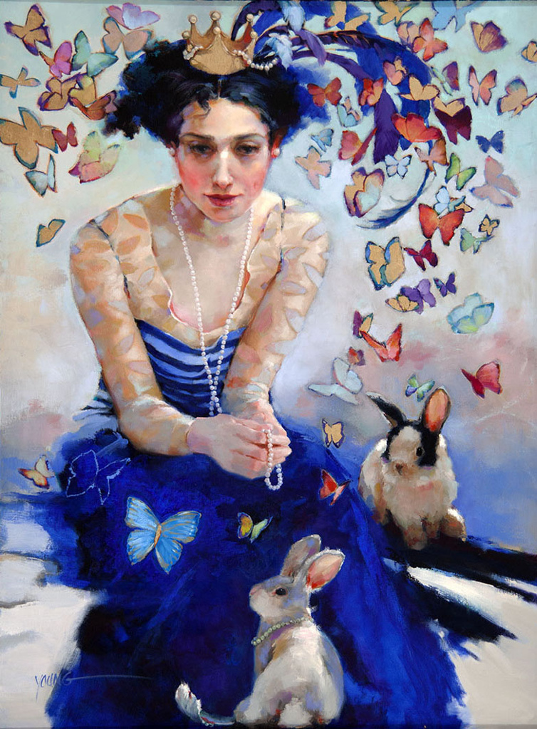 oil painting butterflies by donna young