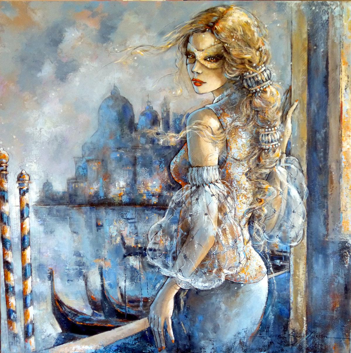 painting artwork woman