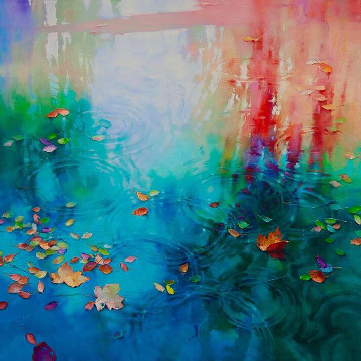 oil painting water by donna young