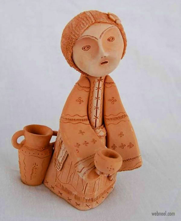 ceramic sculpture artwork lady