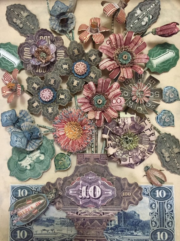 paper art work money by patty grazini