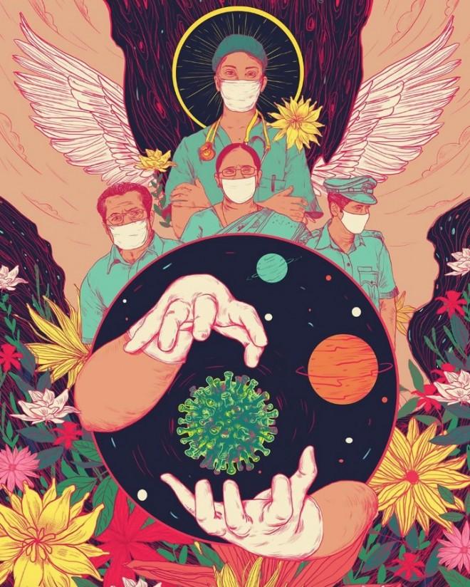 art contest corona virus illustration