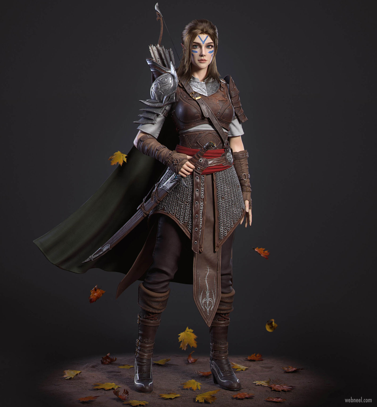 3d Model Fantasy Girl Game Character Fighter By Cifangyi 14