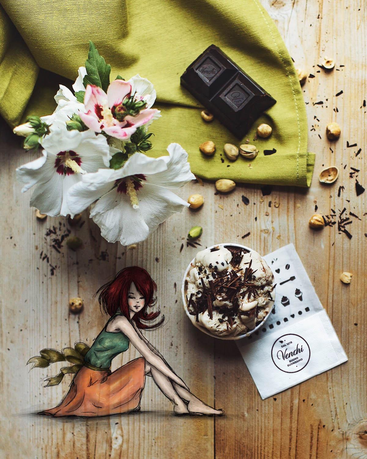 creative artwork idea venchi chocolate