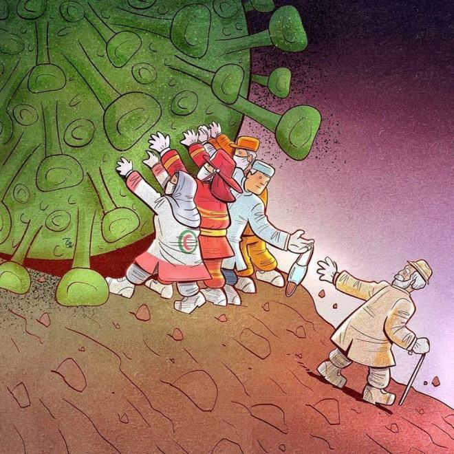 digital illustration artwork corona virus