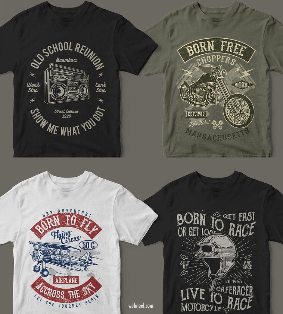 tshirt graphic design idea retro
