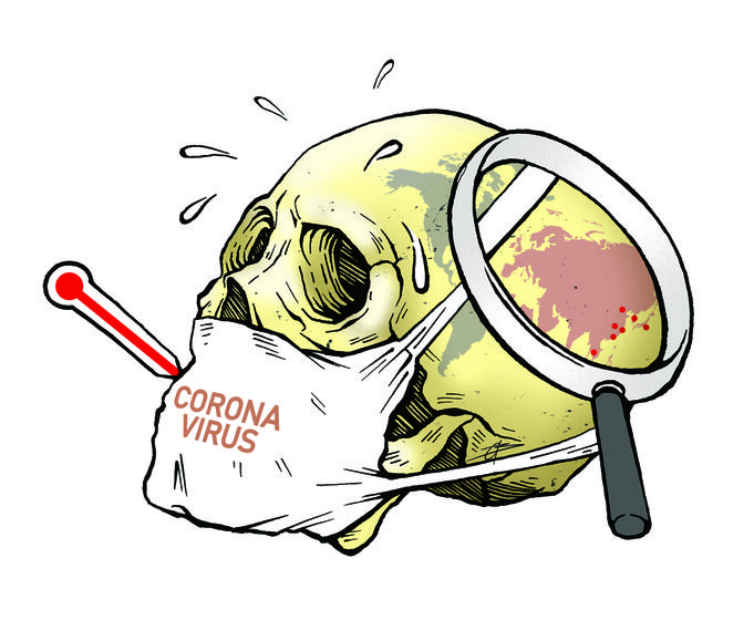 cartoon on corona virus