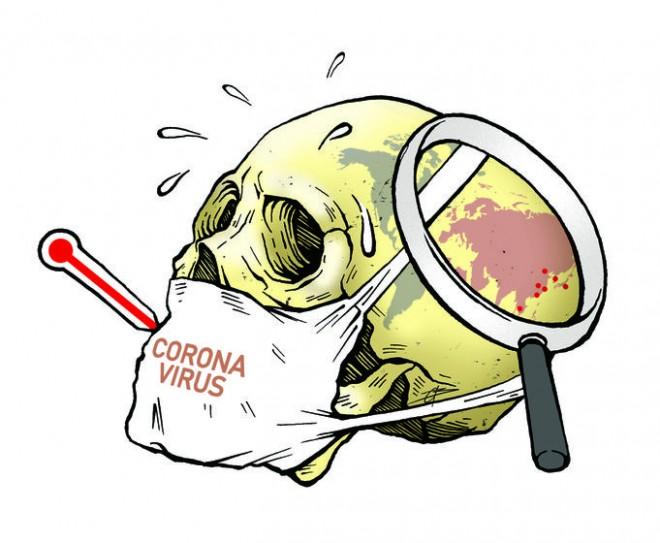 cartoon on corona virus