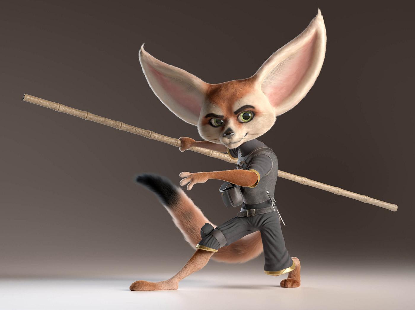 3d model fox ninja by alexandre mougenot