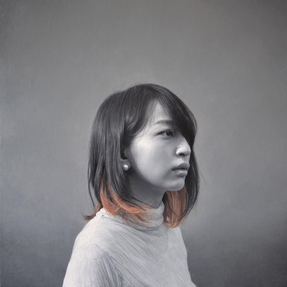 oil painting realistic woman portrait by mienokei