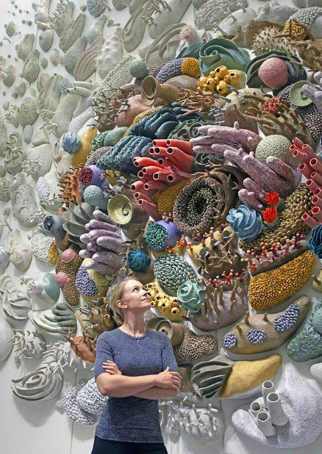 ceramic sculpture undersea coral by courtney mattison