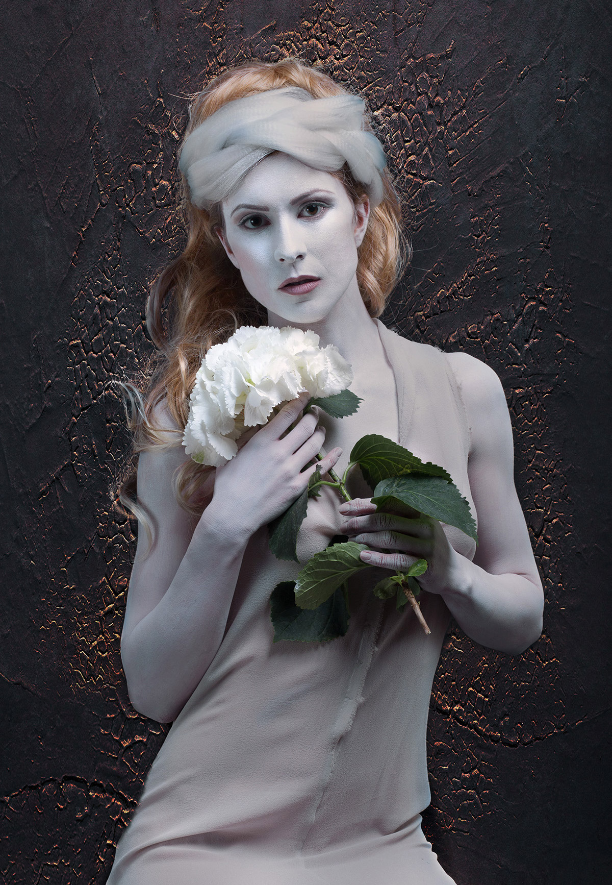photography woman with flower by silvia sasso