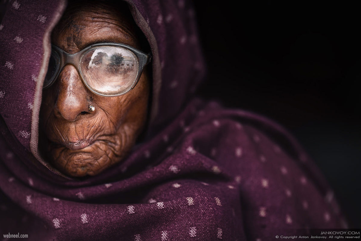 portrait photography face old woman by anton jankovoy