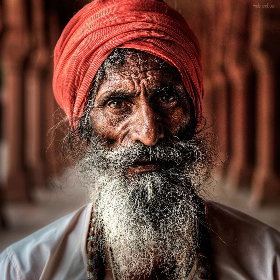 portrait photography travel india old man by ed gordeev