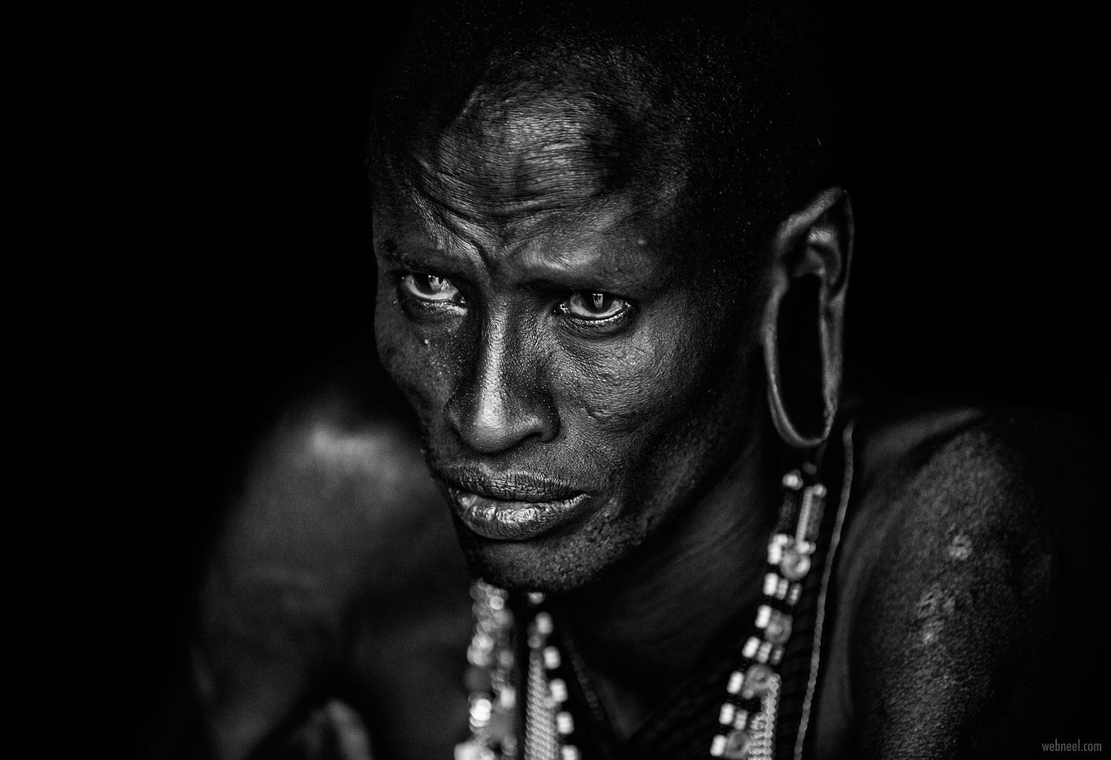 portrait photography tribal masai man by vedranvidak
