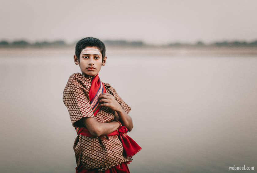 portrait photography varnasi boy by marji lang