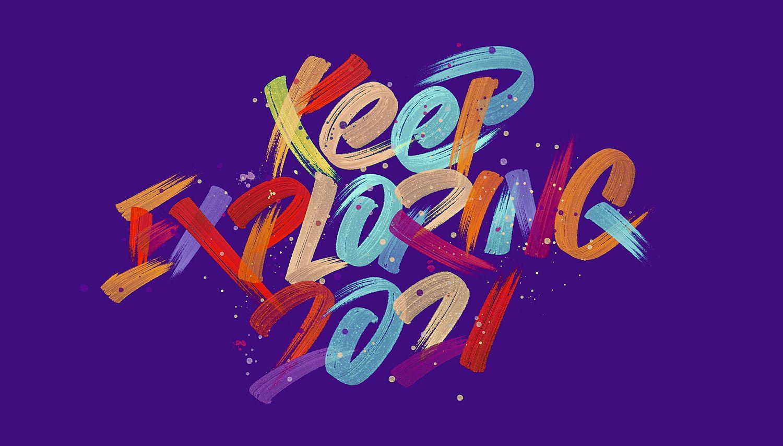 3d typography design by kongnok