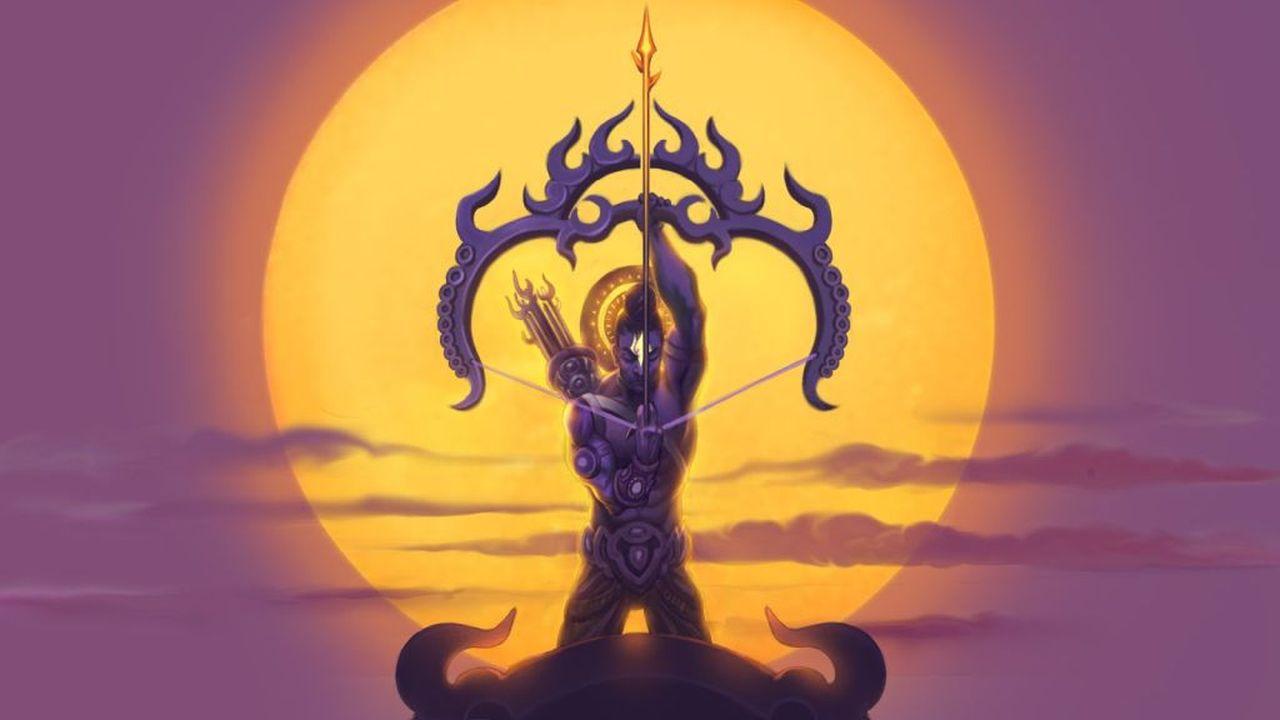 digital painting indian mythological character warrior by shashank mishra