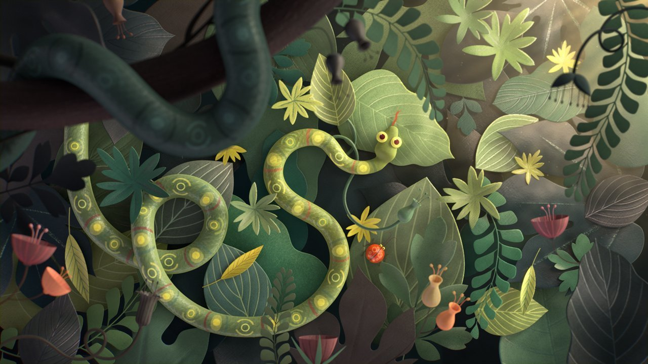 illustration for food chain animation by burcu and geoffrey