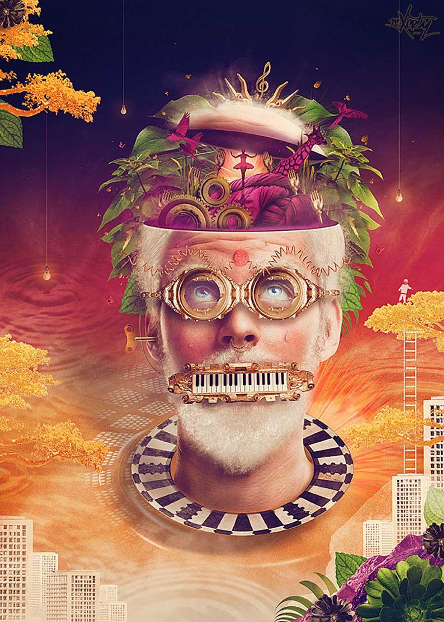 photo manipulation grand master head