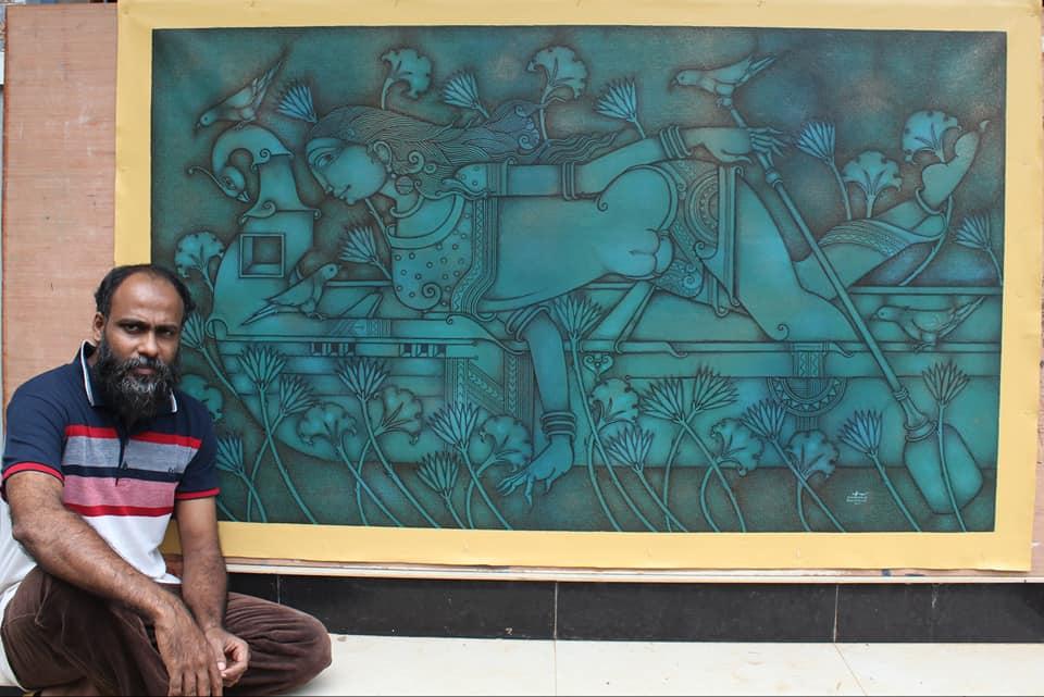 renowned mural artist manikandan punnakkal