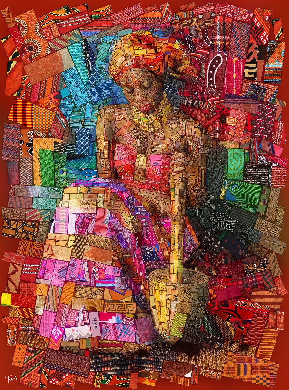 photo manipulation collage african series
