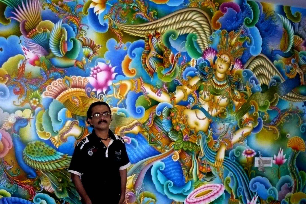 famous kerala mural artist prince thonnakkal