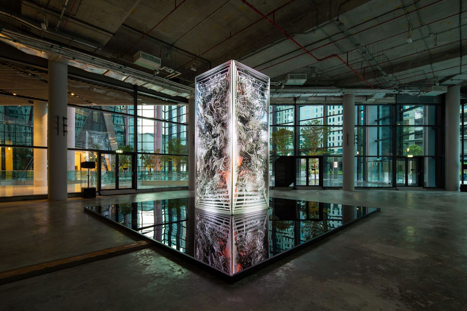 award winning architectural data sculpture datamonolith ai