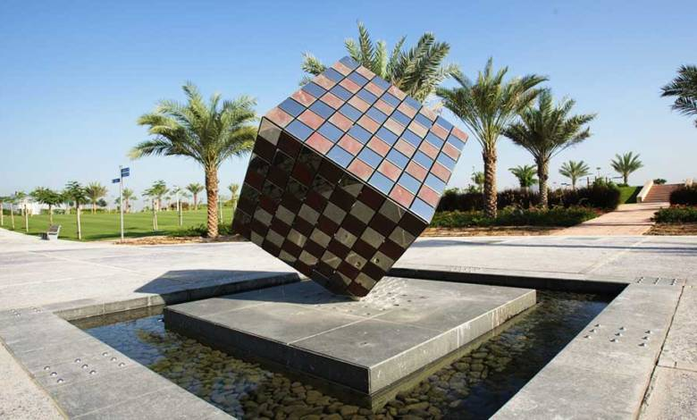 giant cube sculpture by david harber