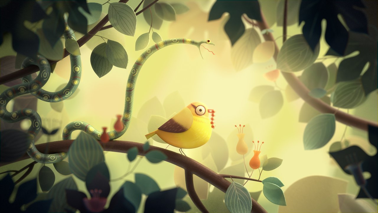 illustration for food chain animation
