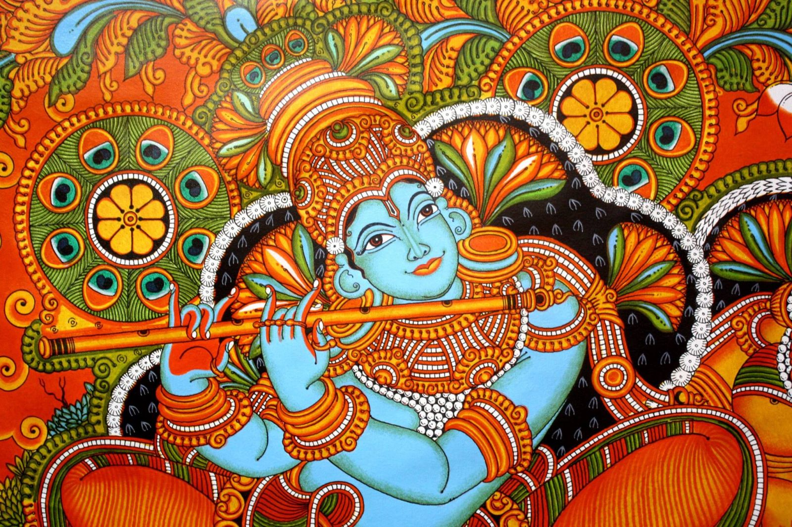stunning kerala mural painting