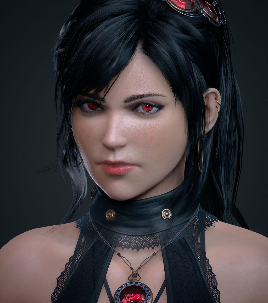3d model character design erika
